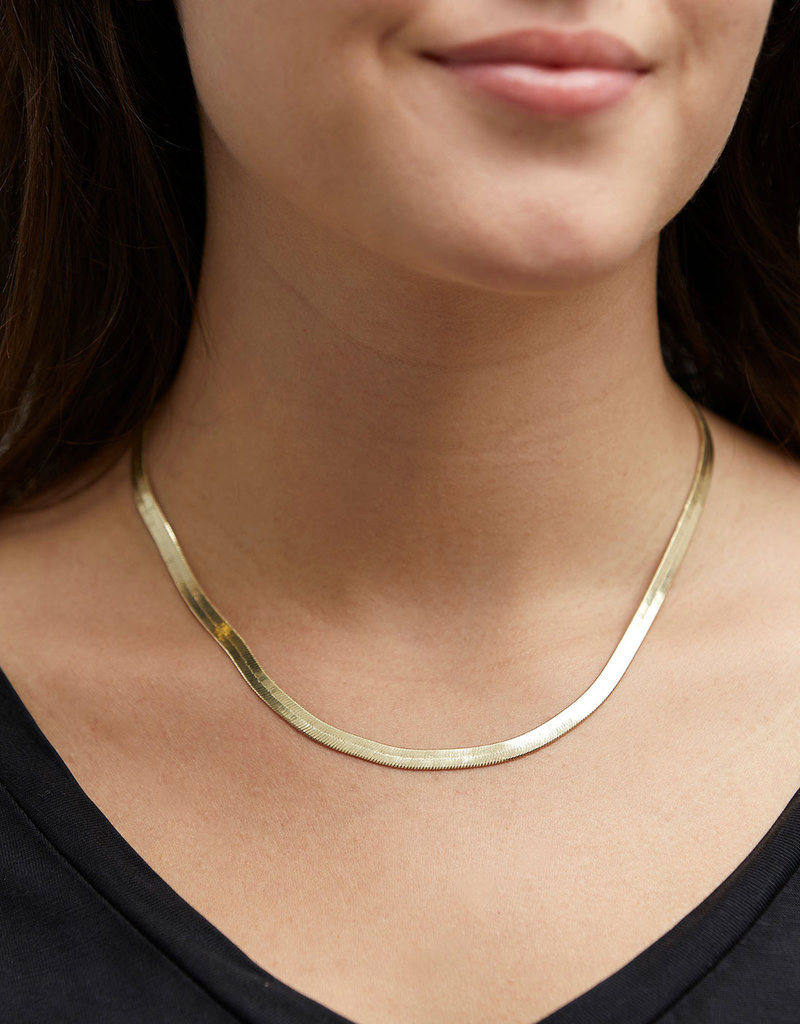 Pilgrim Snake Chain Necklace, Gold Plated