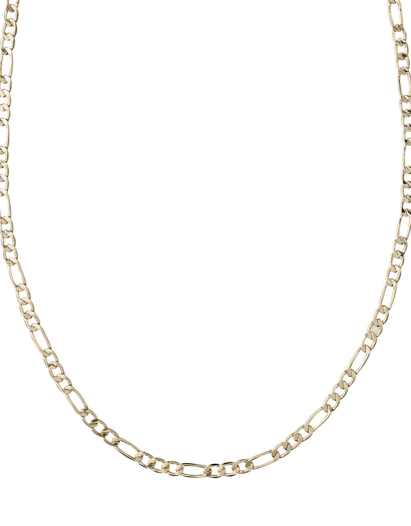 Pilgrim Figaro Classic Chain Necklace, Gold Plated