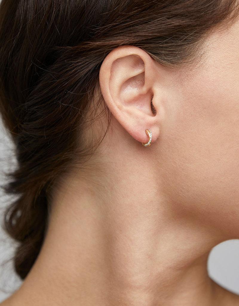Pilgrim Anouk Crystal Earrings, Gold Plated