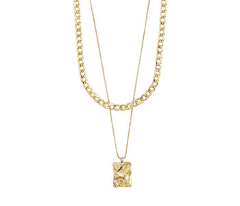 Bathilda 2-in-1 Necklace, Gold Plated