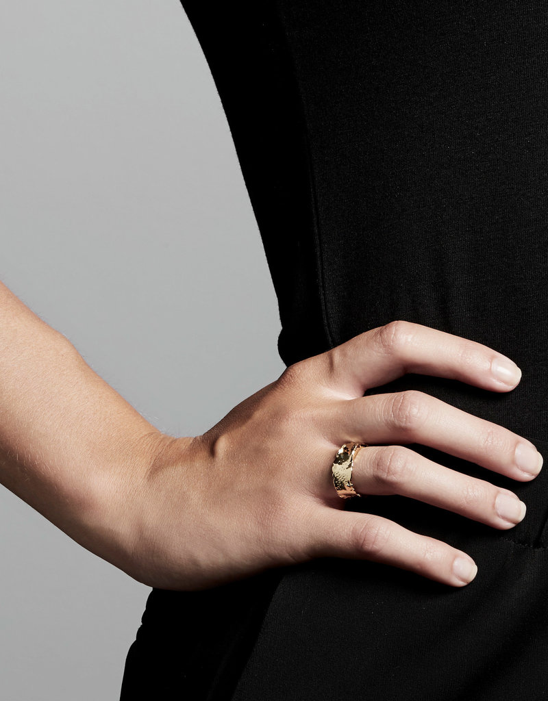 Pilgrim Bathilda Ring, Gold Plated