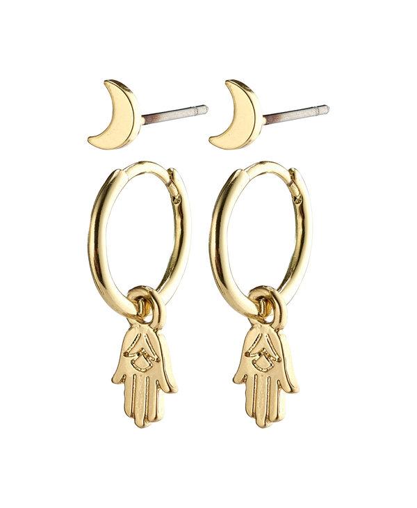 Nyla Earrings Set, Gold Plated