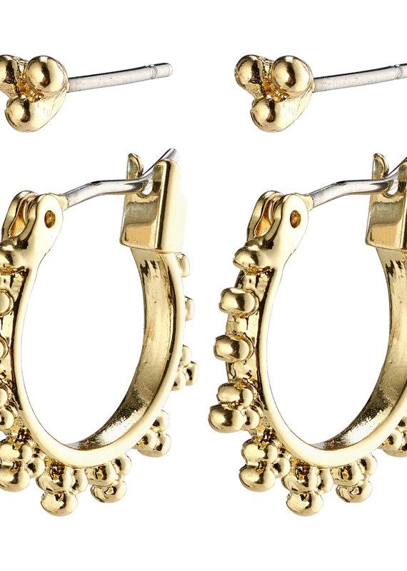 Pilgrim Kate Earrings Set, Gold Plated