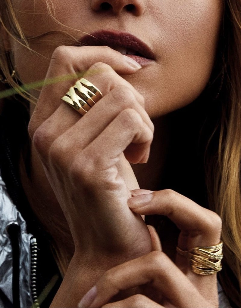 Pilgrim Rhea Ring, Gold Plated
