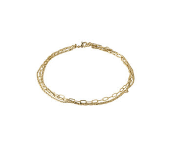 Thalia Ankle Chain, Gold Plated