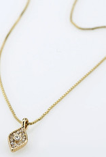Pilgrim Sincerity Crystal Necklace, Gold Plated