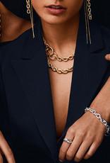 Pilgrim Horizon Rope Necklace, Gold Plated