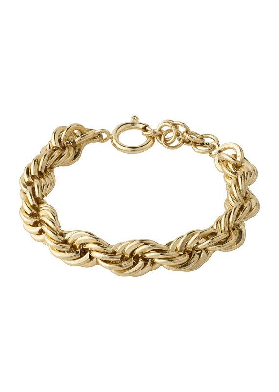 Pilgrim Horizon Rope Bracelet, Gold Plated