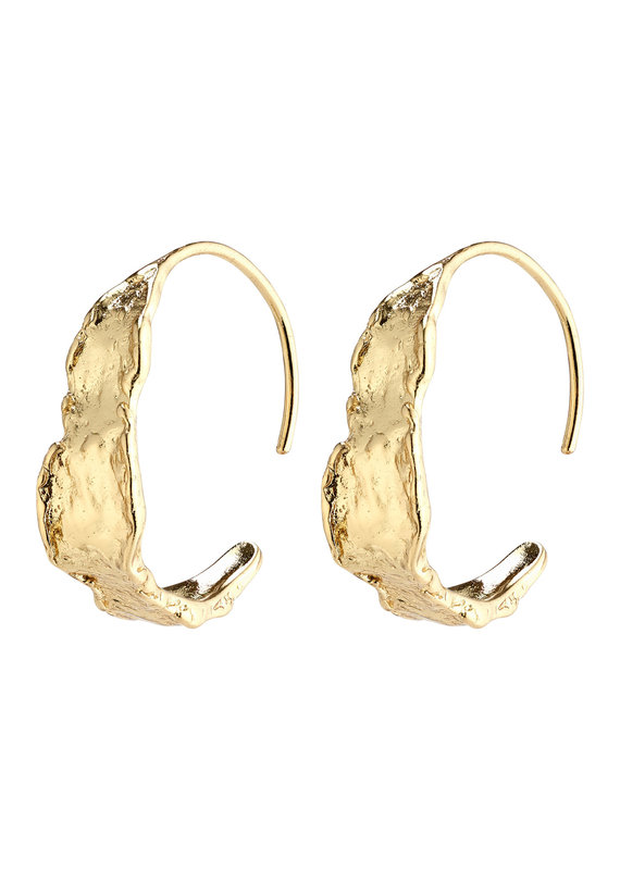 Pilgrim Compass Hoops, Gold Plated
