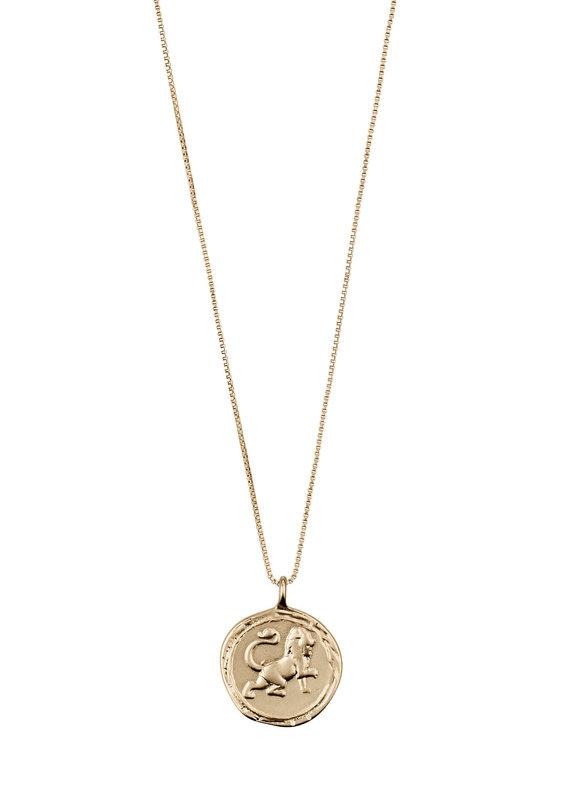Pilgrim Horoscope Crystal Necklace, Gold Plated