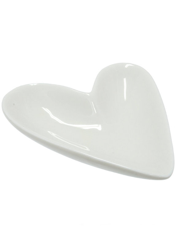 Indaba Trading Co. Porcelain Heart Dish, L