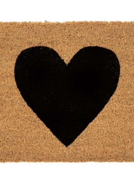 Indaba Trading Co. Black Heart Doormat