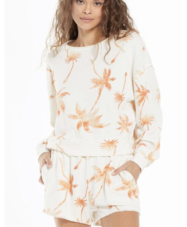 Kai Tropical Sweatshirt, Cantaloupe