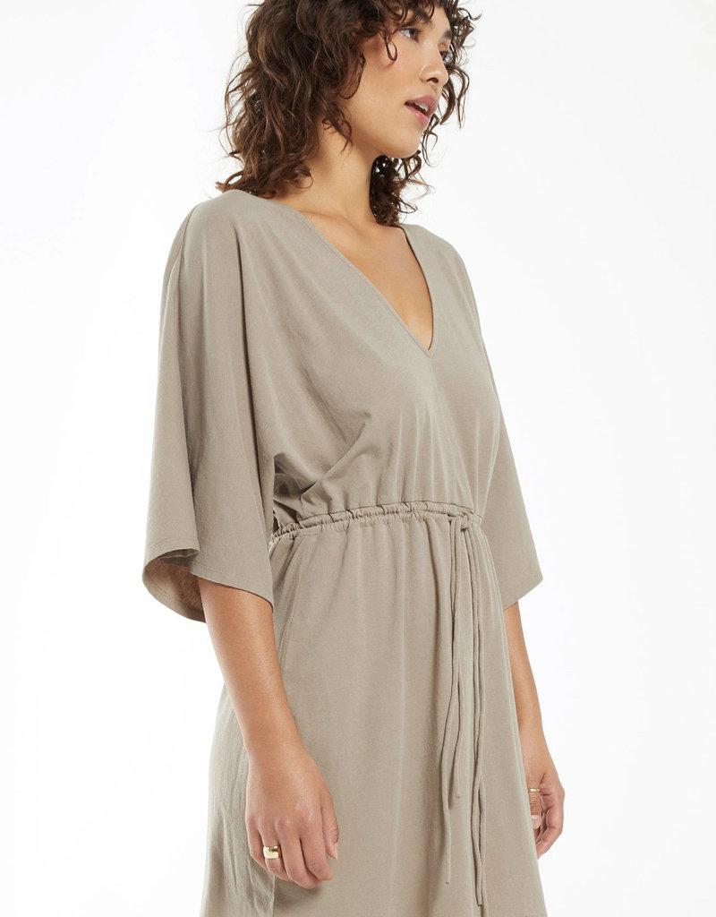Z Supply Sydney Cotton Jersey V-Neck Dress