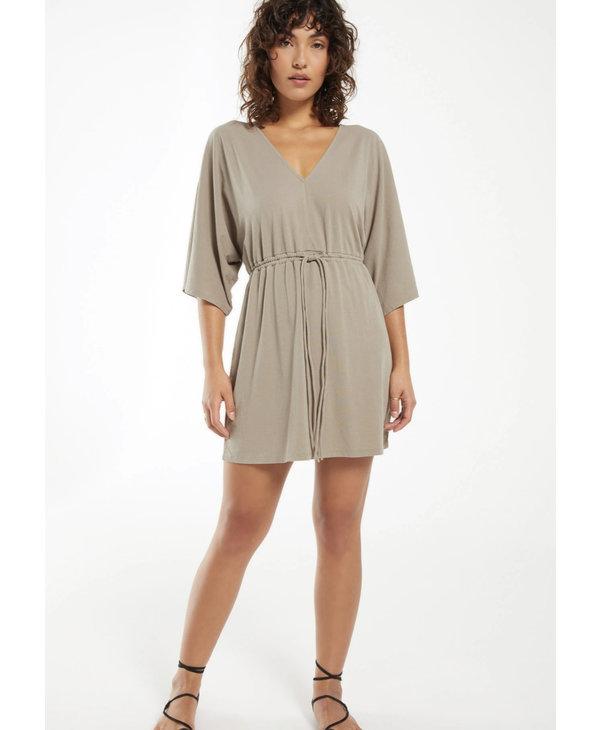 Sydney Cotton Jersey V-Neck Dress