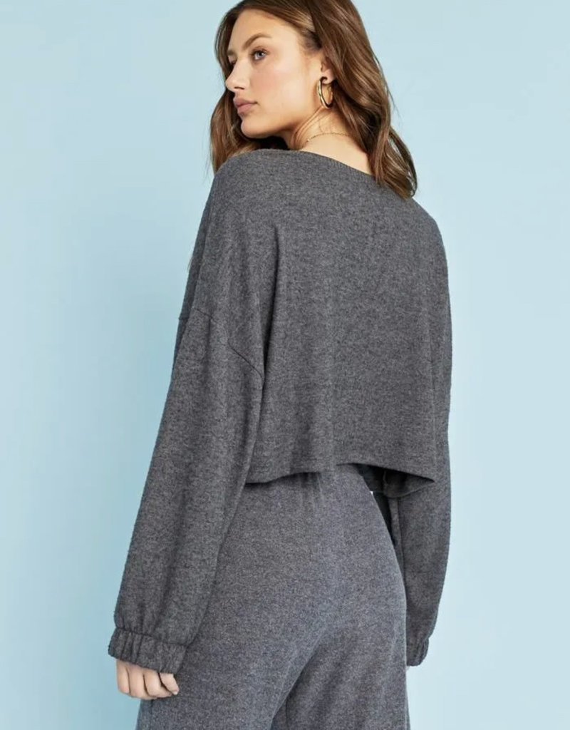 Project Social Aloma Cozy Crew, Charcoal