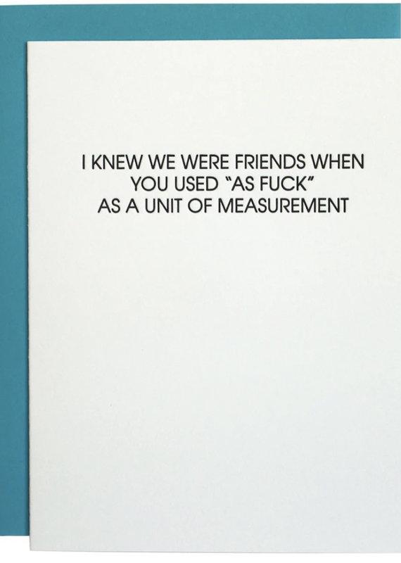 Chez Gagne Unit Of Measurement As F*** Card