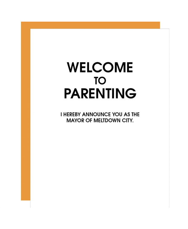 Welcome To Parenting Meltdown City Card