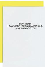 Chez Gagne Speakerphone Card