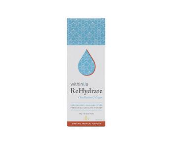 ReHydrate + TruMarine™ Collagen stick pack box, Tropical
