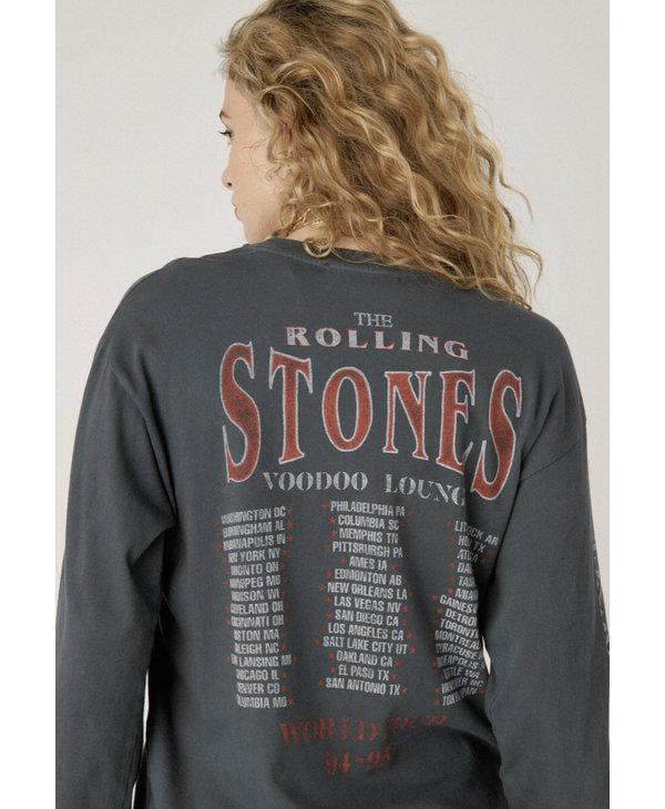 Rolling Stones Voodoo Lounge Oversized Long Sleeve, Vinatge Black
