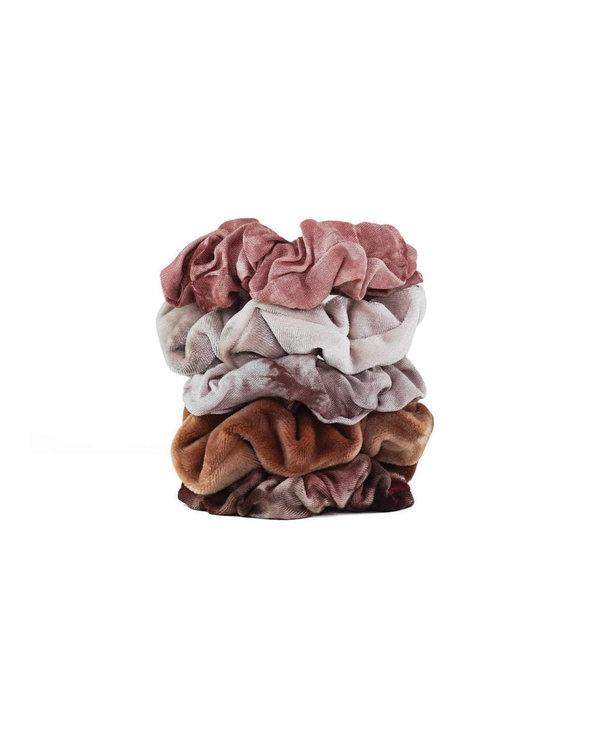 Rust Tie Dye Scrunchies