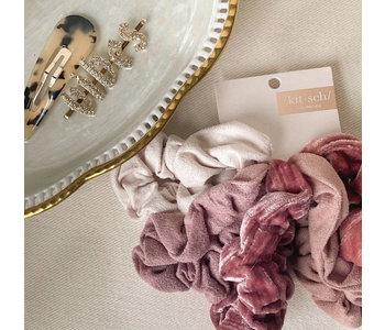 Velvet Scrunchies - Blush and Mauve