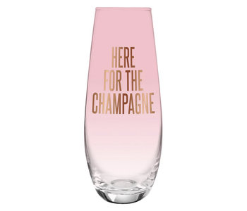Here For Champagne, 11.8oz Flute