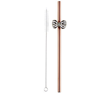 Bow Straw, Rose Gold