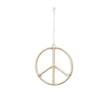 Yarn Wire Peace Sign