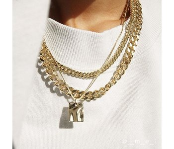 2-in-1 Necklace Set Water, Gold Plated