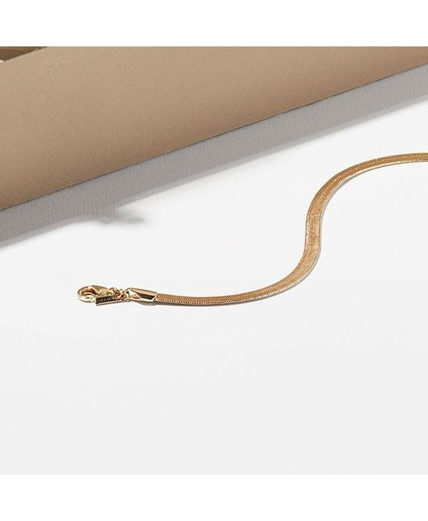 Noreen Snake Chain Necklace, Gold Plated