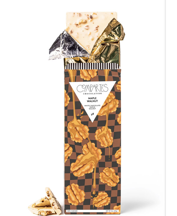 Maple Walnut Fudge Chocolate Bar