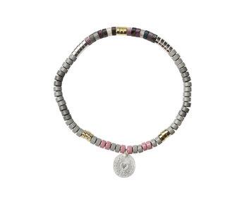 Charm Bracelet, Tourmaline/Silver