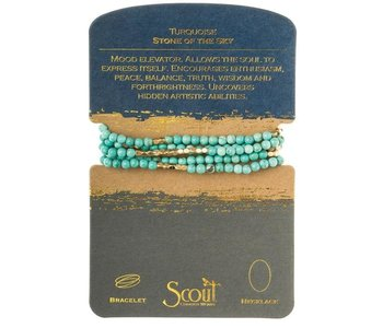 Turquoise/Gold Necklace, Stone of the Sky