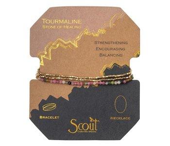 Delicate Stone Tourmaline/Gold, Stone of Healing