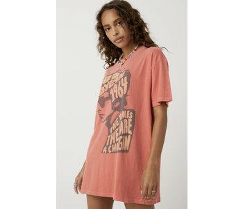 Bob Dylan 1964 T-Shirt Dress, Wildflower