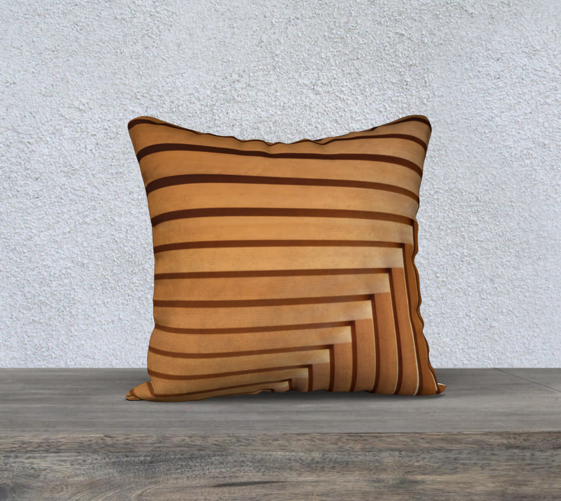 "Audain Architecture Beams Pillow Cover 18x18"""