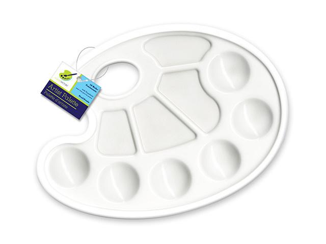 """Paint Palette 9x7"""" Plastic Oval"""