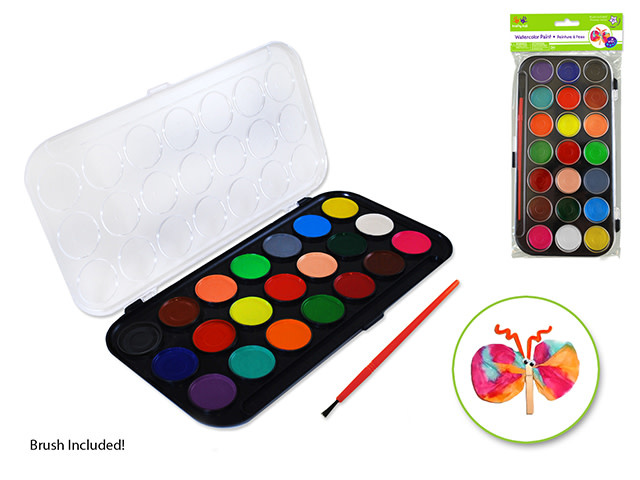 Watercolour Paint Set with Brush