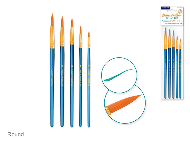 Deluxe Taklon Paint Brush Set