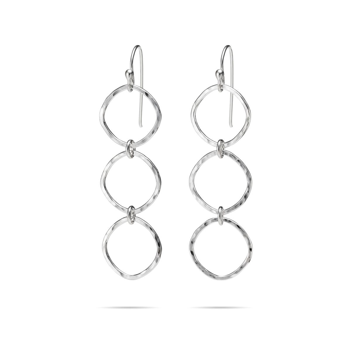 Mikel Grant Jewelry Soft Square Trio Drop Earrings