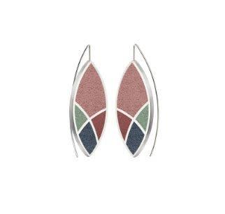 Konzuk March Balloons - Leaf Concrete Earring Drops 3