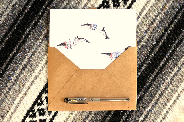 Cocoon Art Card - Minke Whales