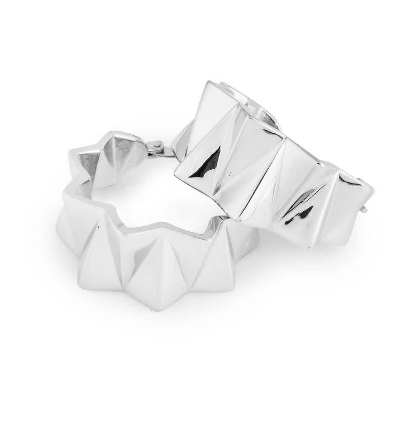 HK + NP Earrings - Zigzag - Mirror