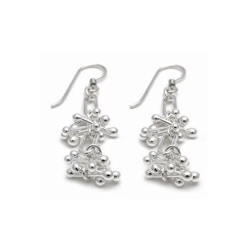 Madeleine Chisholm - CCBC Earrings - Barbell Dangles, 3 Links Long