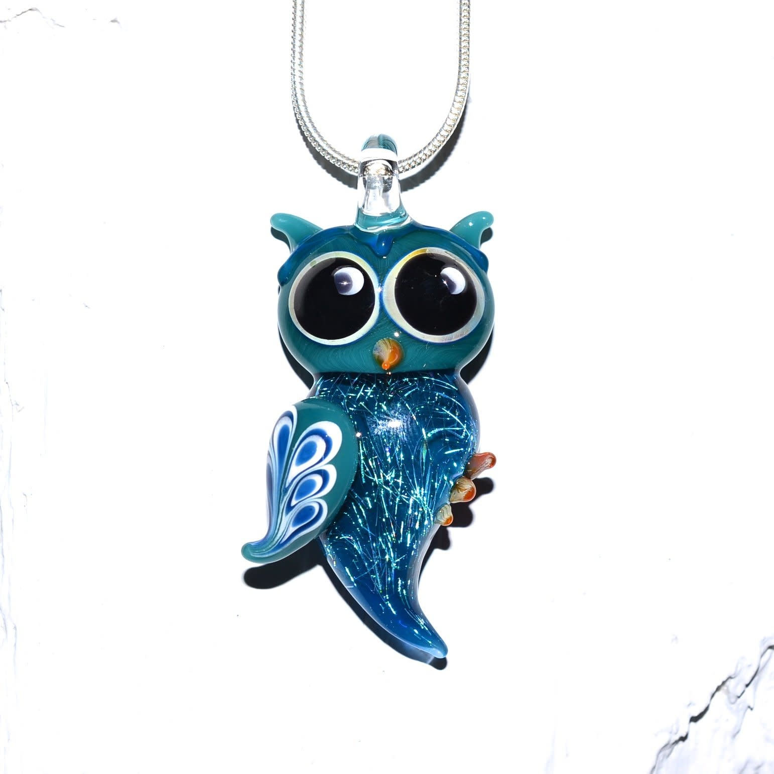 Lady Dragon Glassworks - CCBC Glass Pendant - Owl