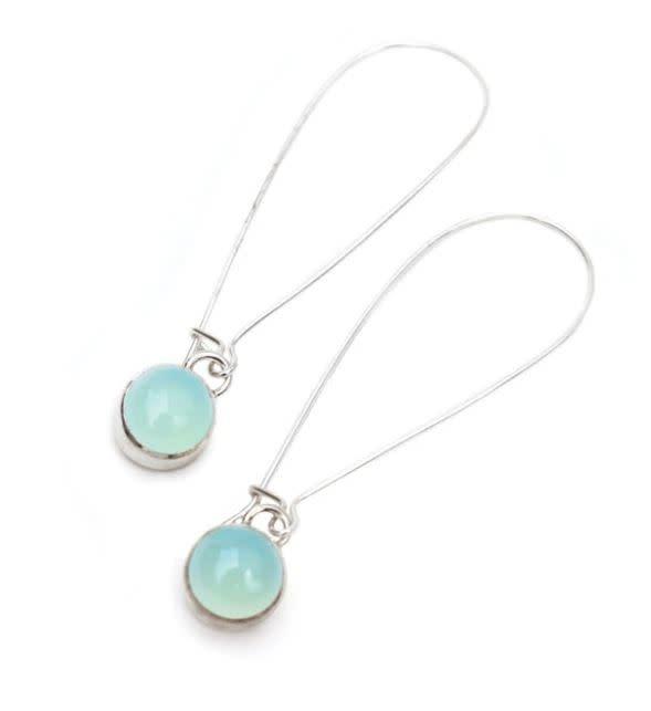 Paprika Design - CCBC Earrings - Aqua Chalcedony - Drops 8mm