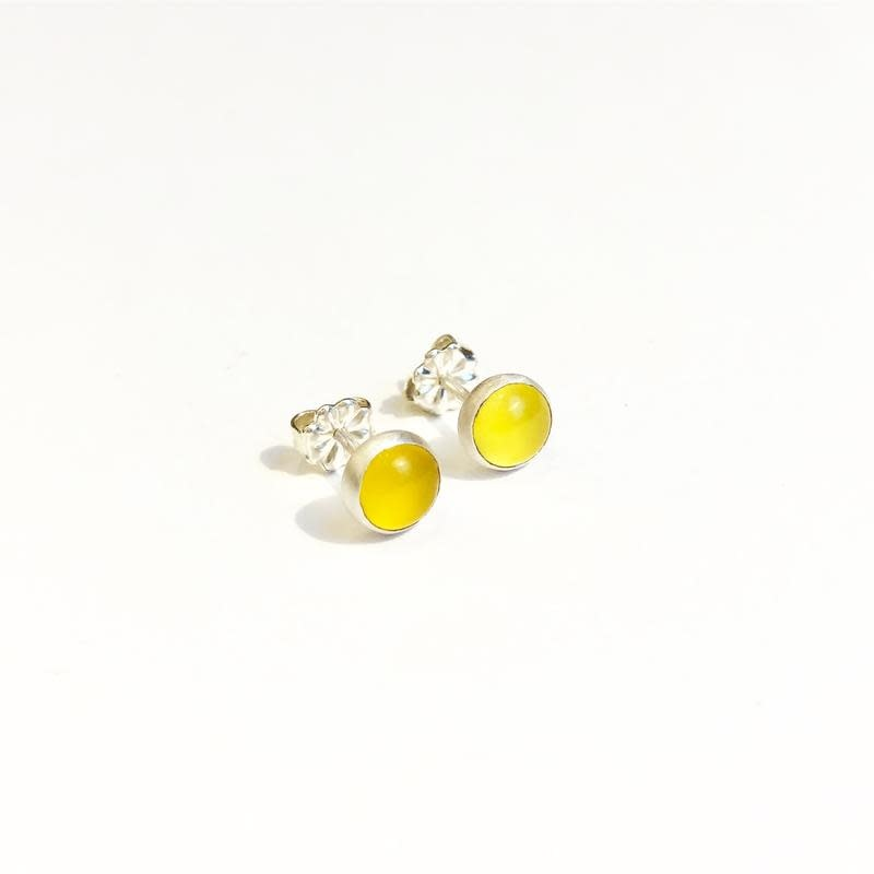 Paprika Design - CCBC Earrings - Yellow Chalcedony Studs 6mm