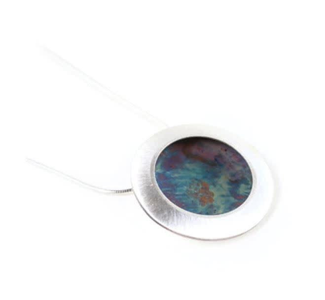 Paprika Design - CCBC Necklace - Oxidized Disc Pendant